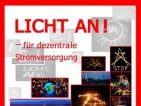 """Collage der Aktion """"Licht an für dezentrale Stromversorgung"""""""
