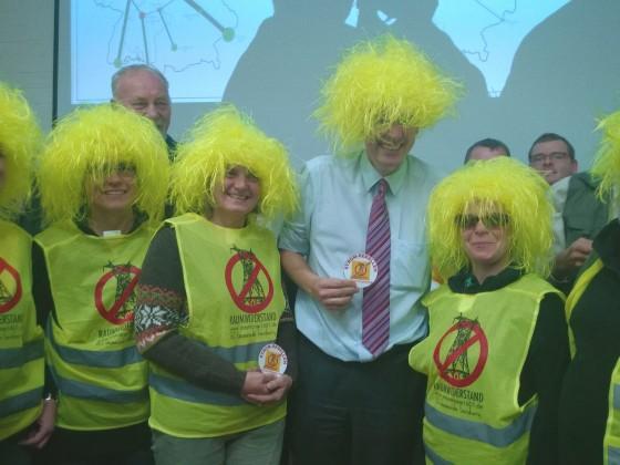 Stromrebellen beim Vortag von Professor C. von Hirschhausen in Creußen