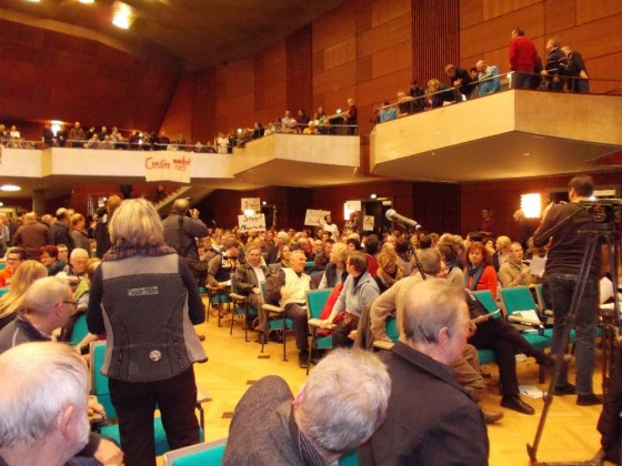 Amprion päsentiert die HGÜ-Trasse - Nürnberg Meistersingerhalle 16- Januar 2014